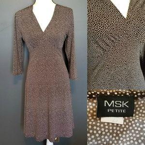 MSK 3/4 Sleeve work dress
